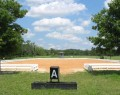 20 X 60 Sand dressage ring with shaded judges gazebo