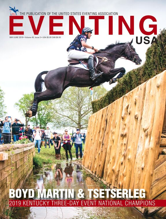 Thomas and Boyd on the Cover of the Eventing USA May/June issue!